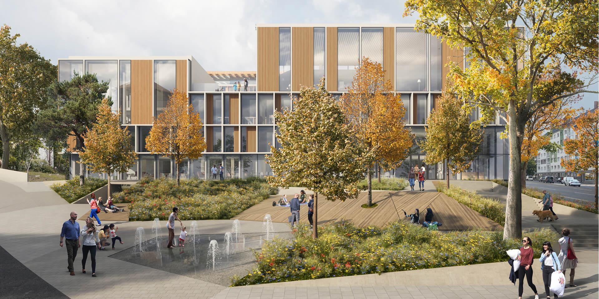 Evangtelischer Campus Nürnberg Enwturf Frontansicht